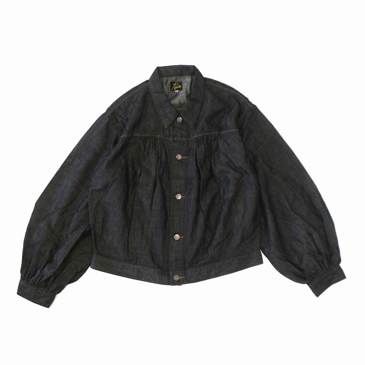 NEEDLES / Gathered Jean Jacket -6.5oz C/L Denim -BLACK