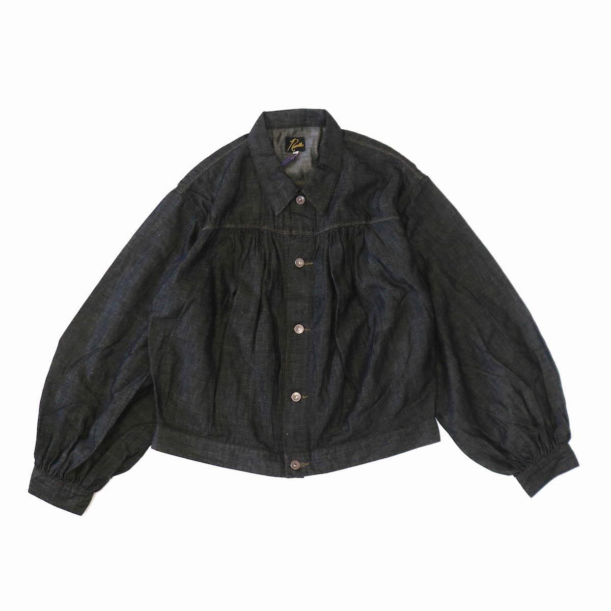 NEEDLES / Gathered Jean Jacket -6.5oz C/L Denim -BLACK