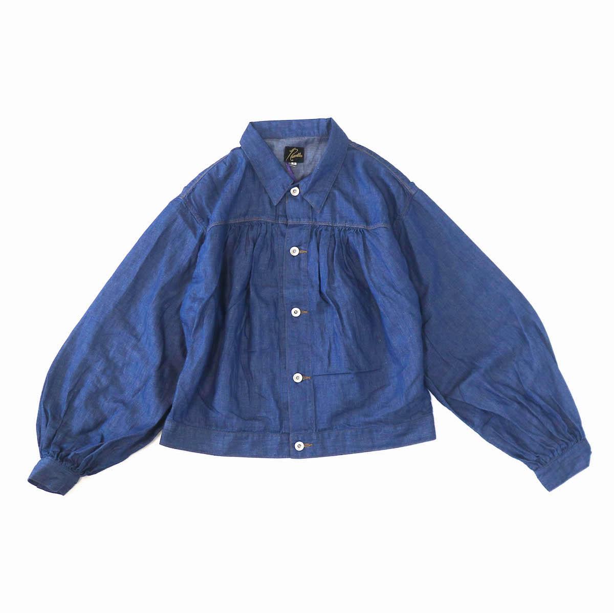 NEEDLES / Gathered Jean Jacket -6.5oz C/L Denim -indigo