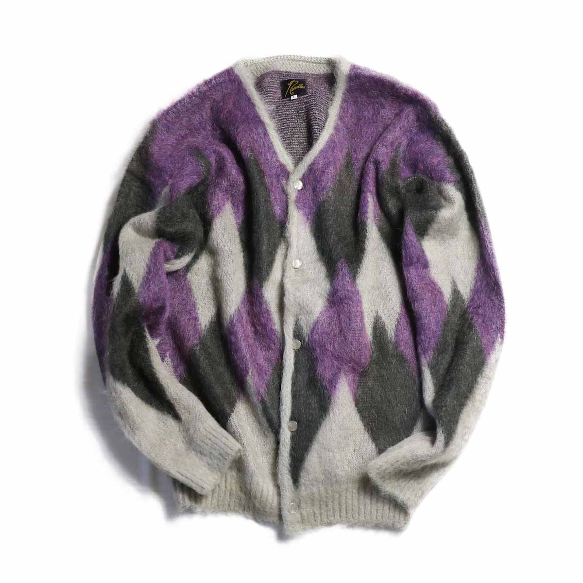 NEEDLES / Mohair Cardigan -Diamond (Grey)
