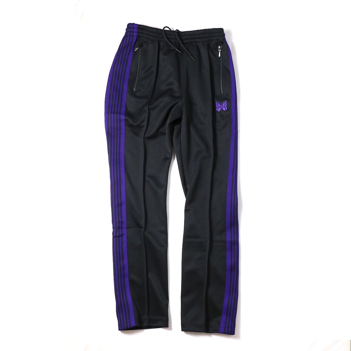 Needles / Narrow Track Pant -Poly Smooth (Black)