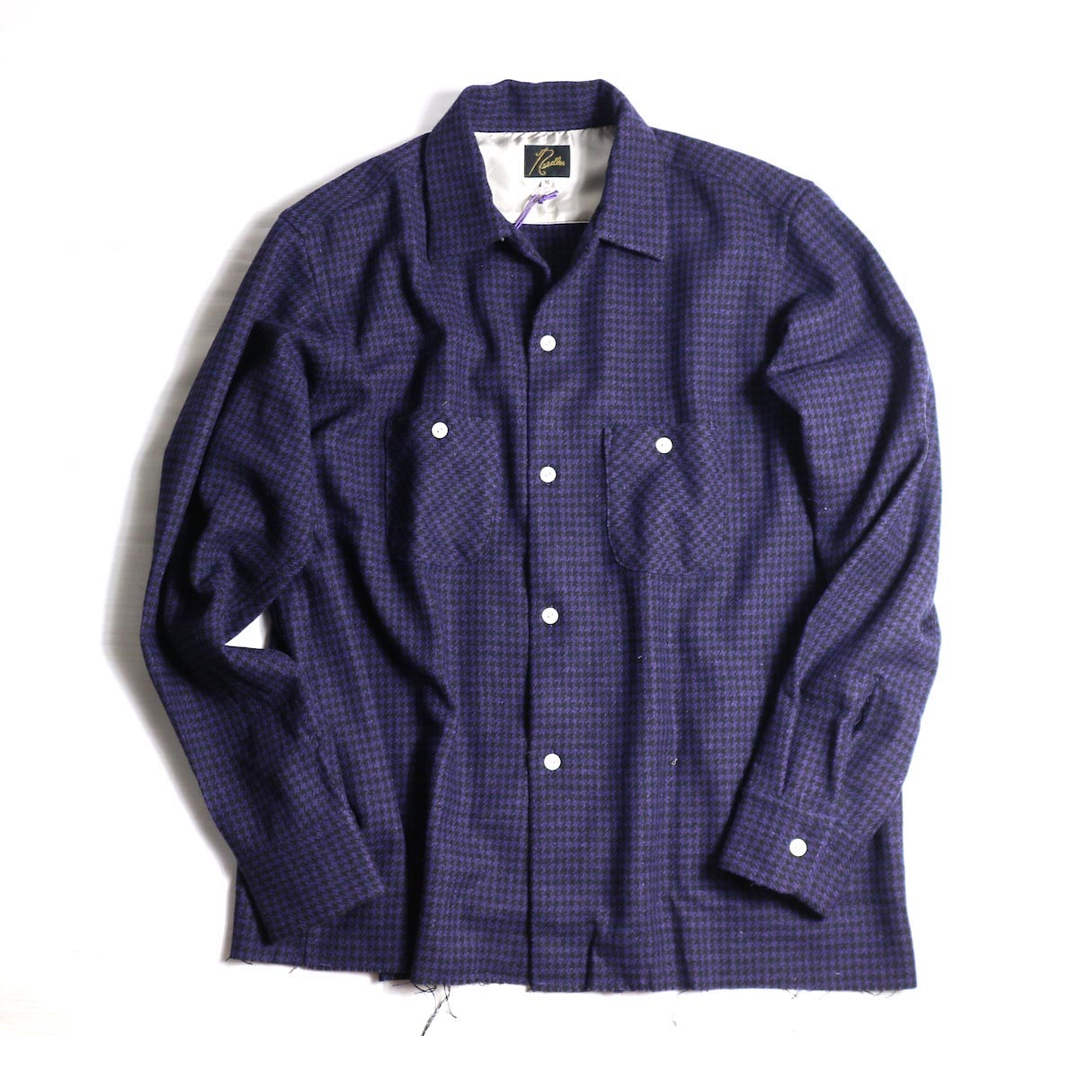 NEEDLES / CUT-OFF BOTTOM ONE-UP SHIRT (PURPLE)