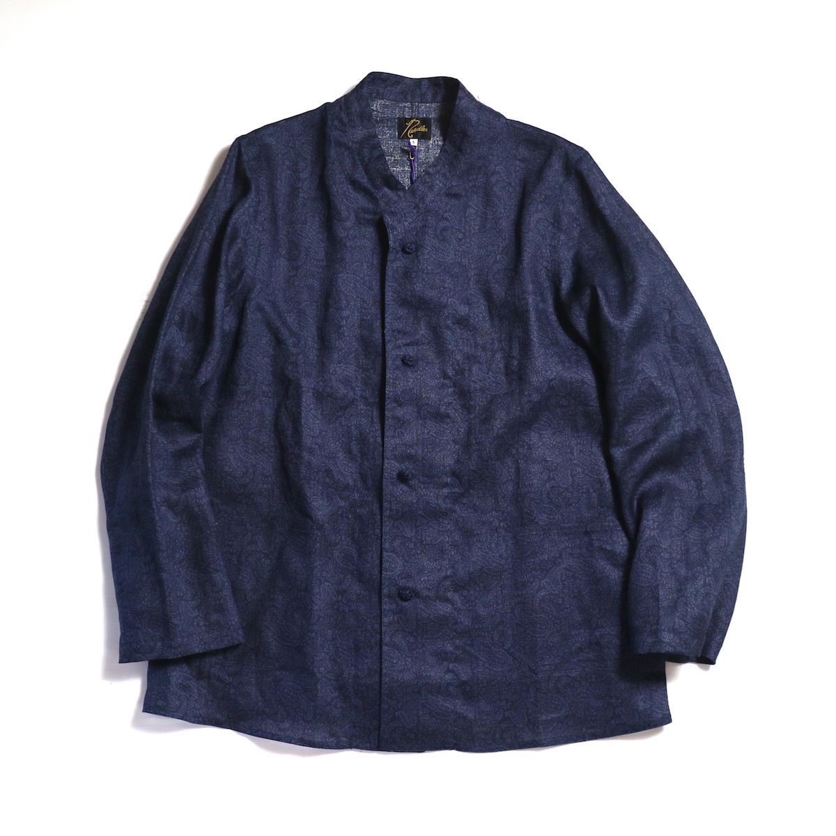 Needles / ORIENTAL BUTTON STAND COLLAR COVERALL