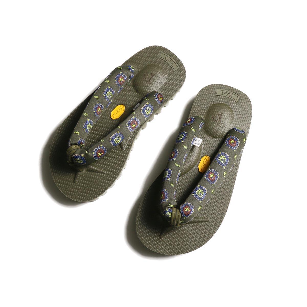 Needles × SUICOKE / Thong Sandal - w/Vibram - Wurstel Sole (Olive)