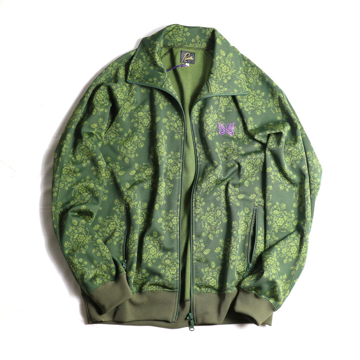 NEEDLES / TRACK JACKET - POLY JACQUARD / FLOWER (RED)NEEDLES / TRACK JACKET - POLY JACQUARD / FLOWER (GREEN)