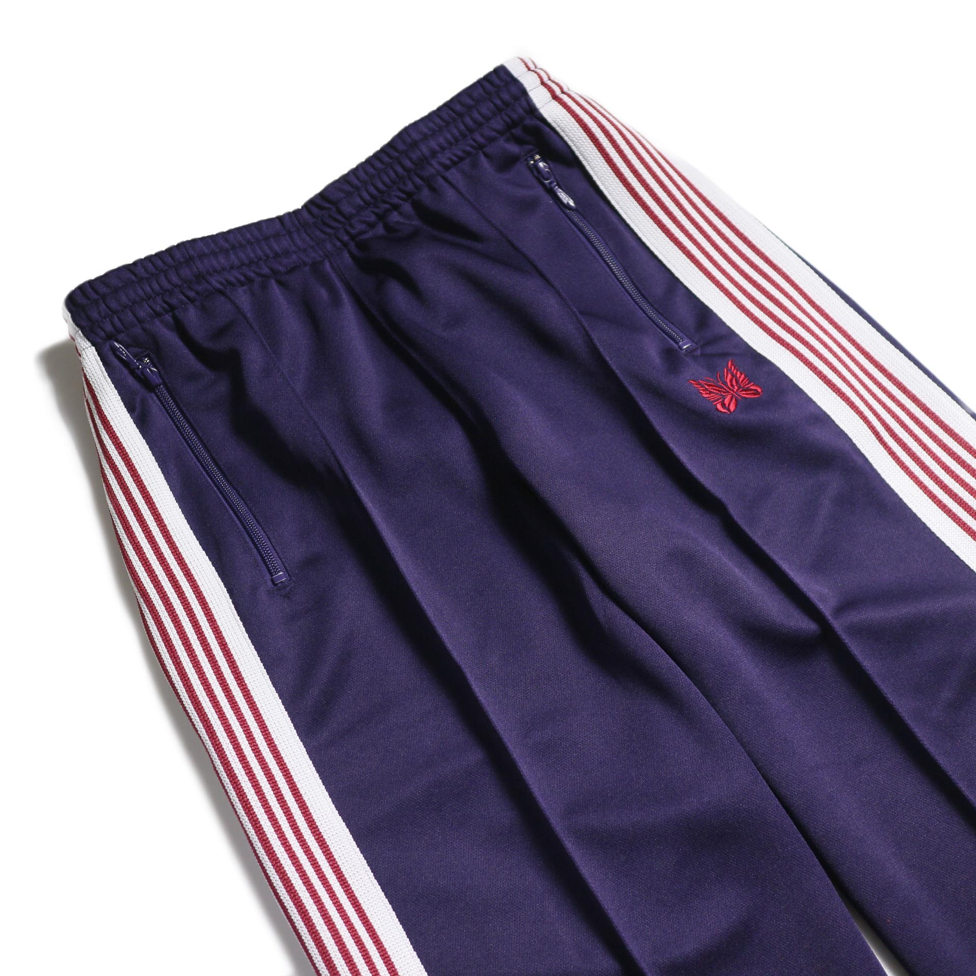 Needles / Track Pant -Poly Smooth (Eggplant) ウエスト