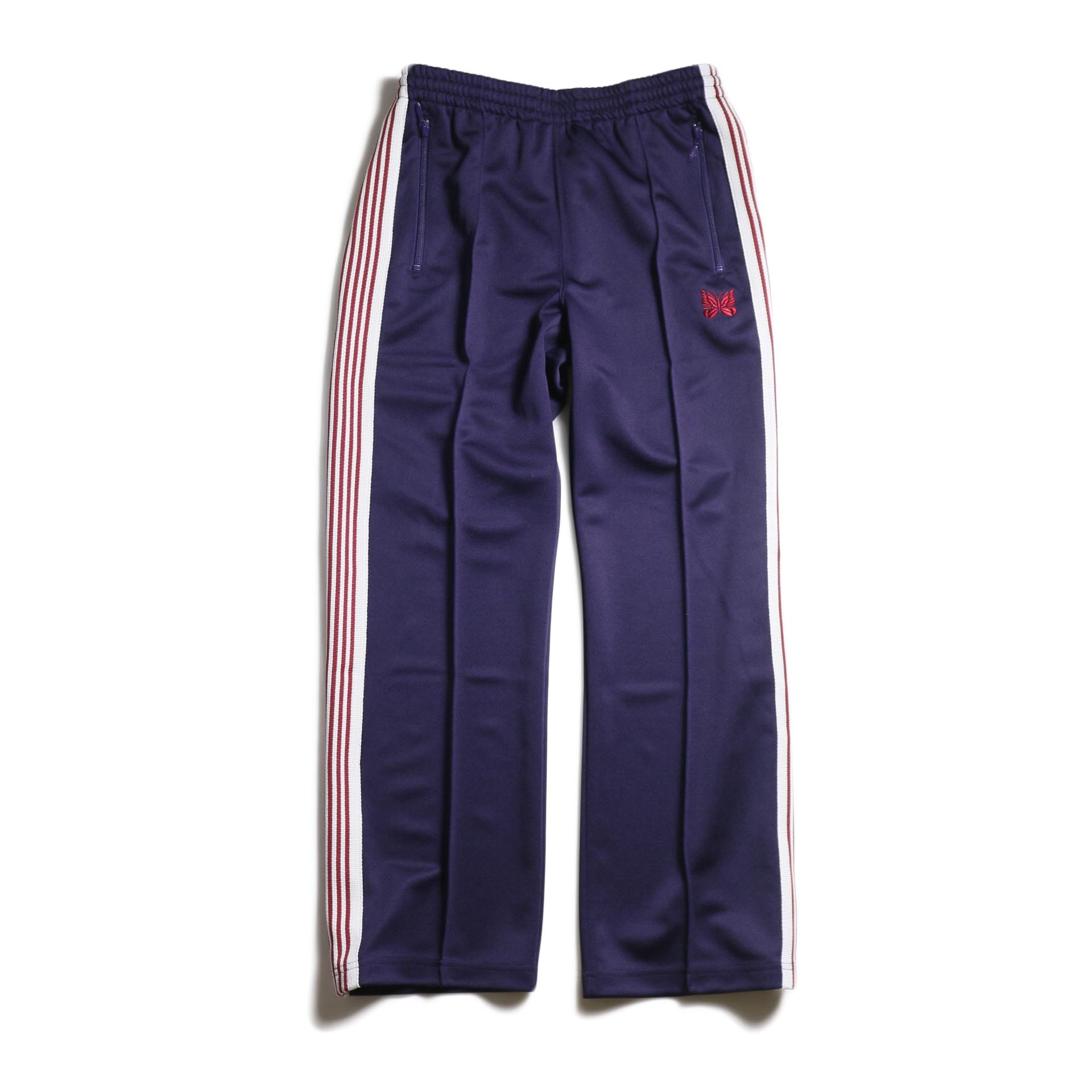 Needles / Track Pant -Poly Smooth (Eggplant) 正面