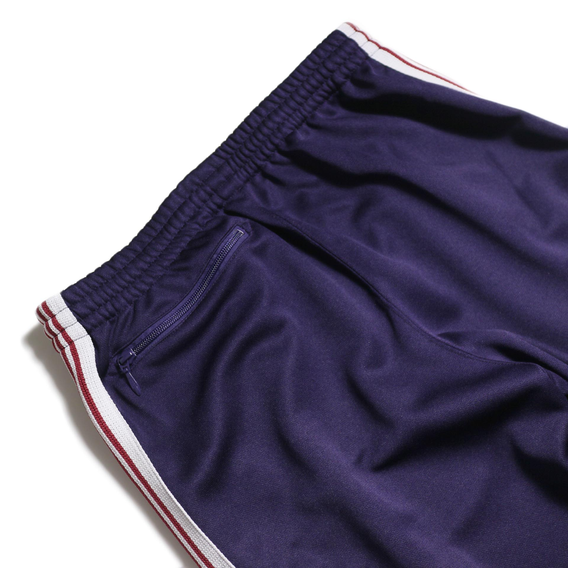 Needles / Track Pant -Poly Smooth (Eggplant) ヒップポケット