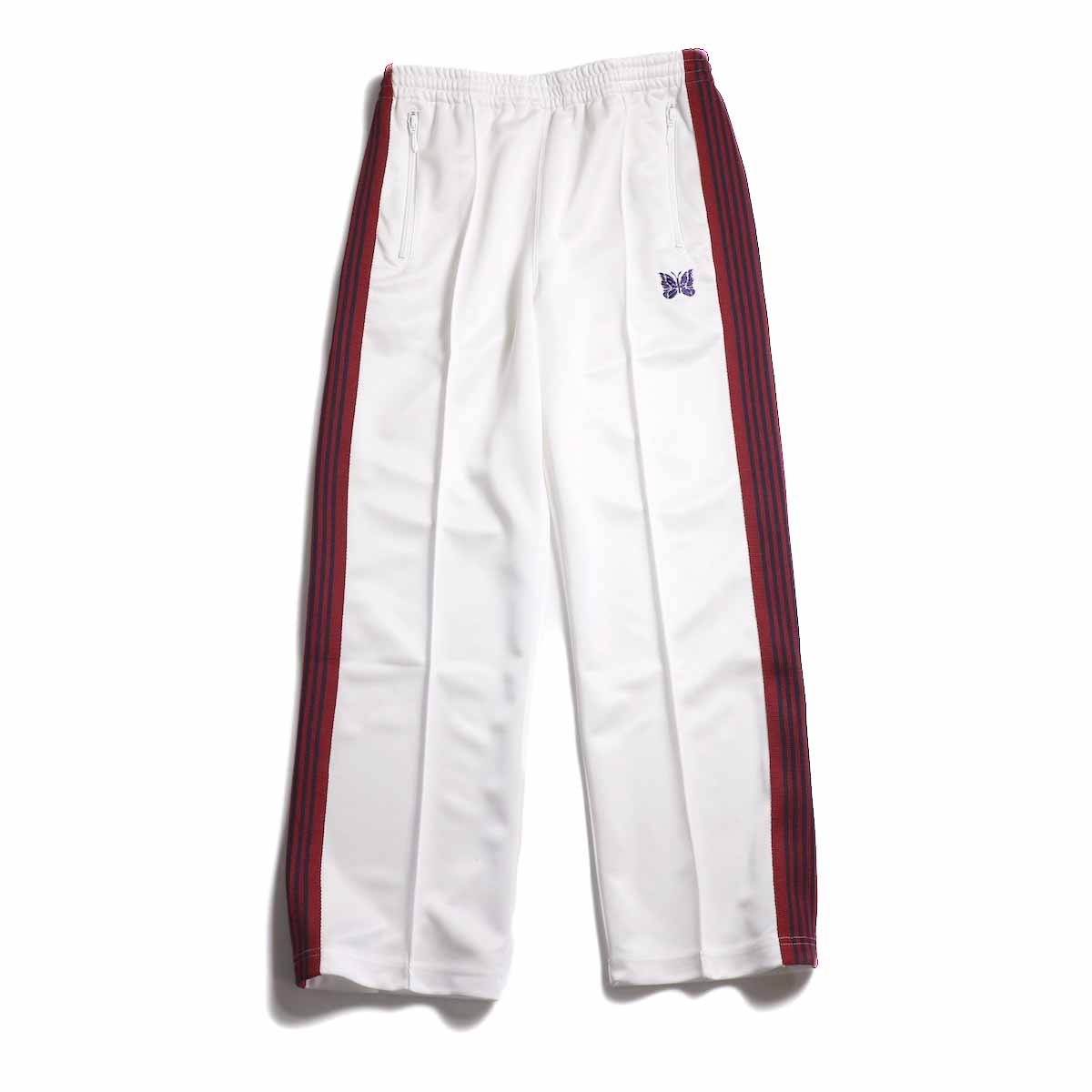 Needles / Track Pant -Poly Smooth (White) 正面