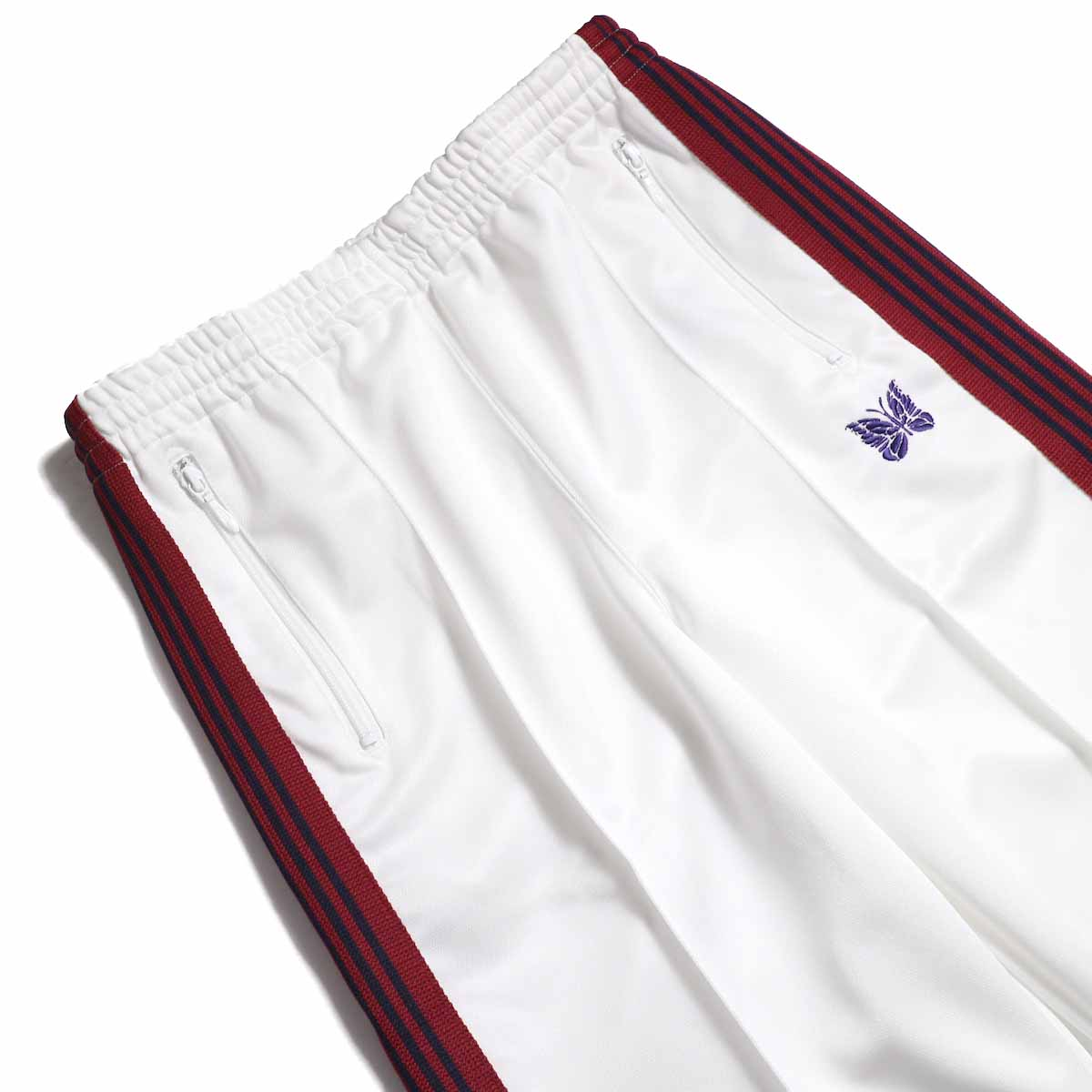 Needles / Track Pant -Poly Smooth (White) ウエスト
