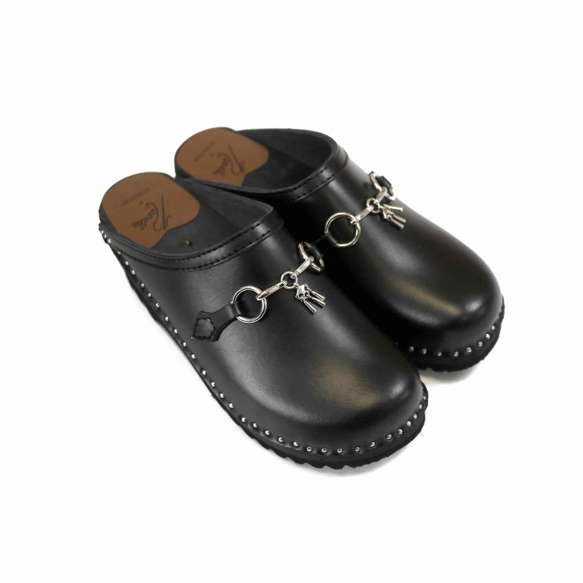 Needles × Troentorp / Swedish Clog -Plain Toe / Bit (Black)