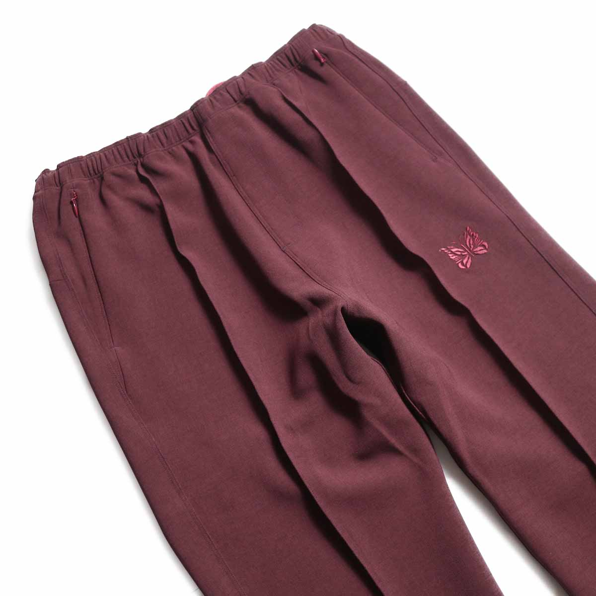 NEEDLES / Warm-Up Pant -Poly Double Cloth (Bordeaux) ウエスト