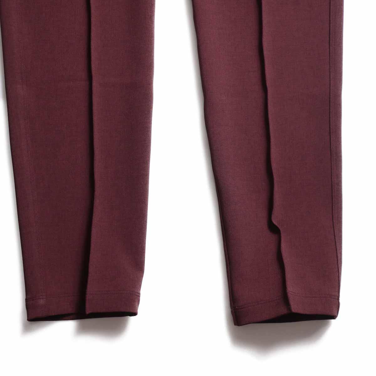 NEEDLES / Warm-Up Pant -Poly Double Cloth (Bordeaux) 裾