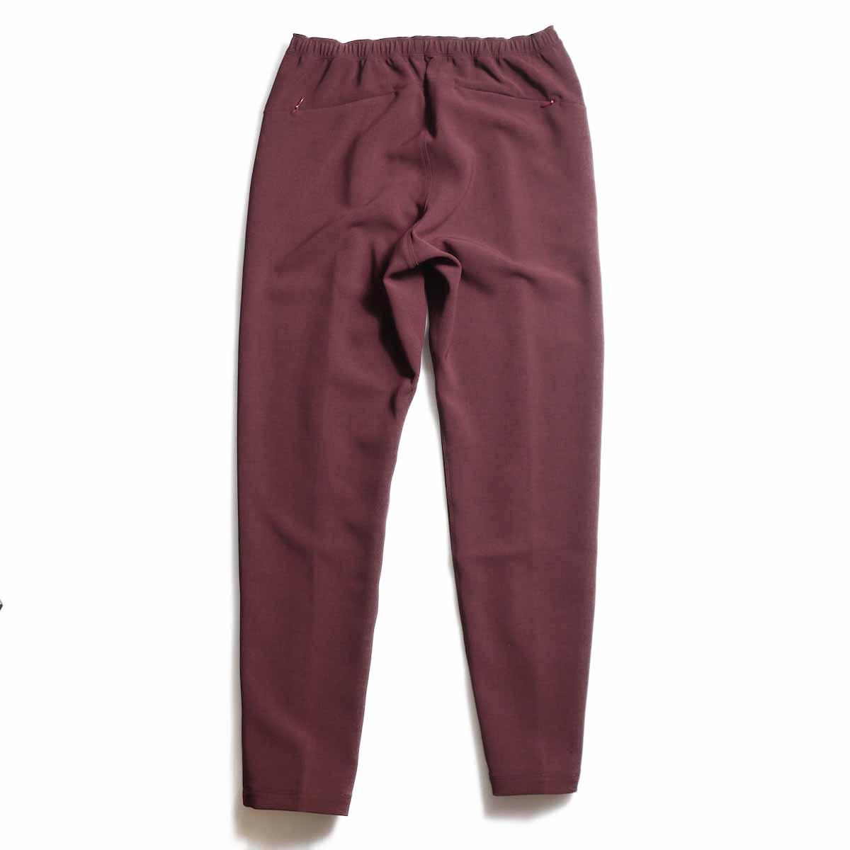NEEDLES / Warm-Up Pant -Poly Double Cloth (Bordeaux) 背面
