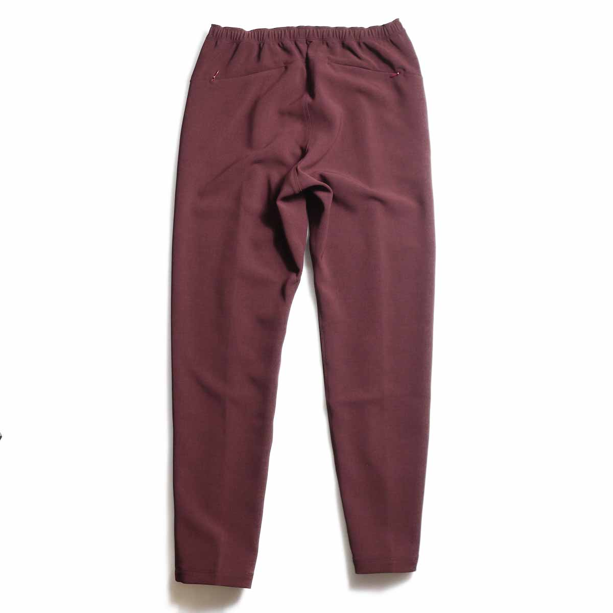 NEEDLES / Warm-Up Pant -Poly Double Cloth (Bordeaux) 背面