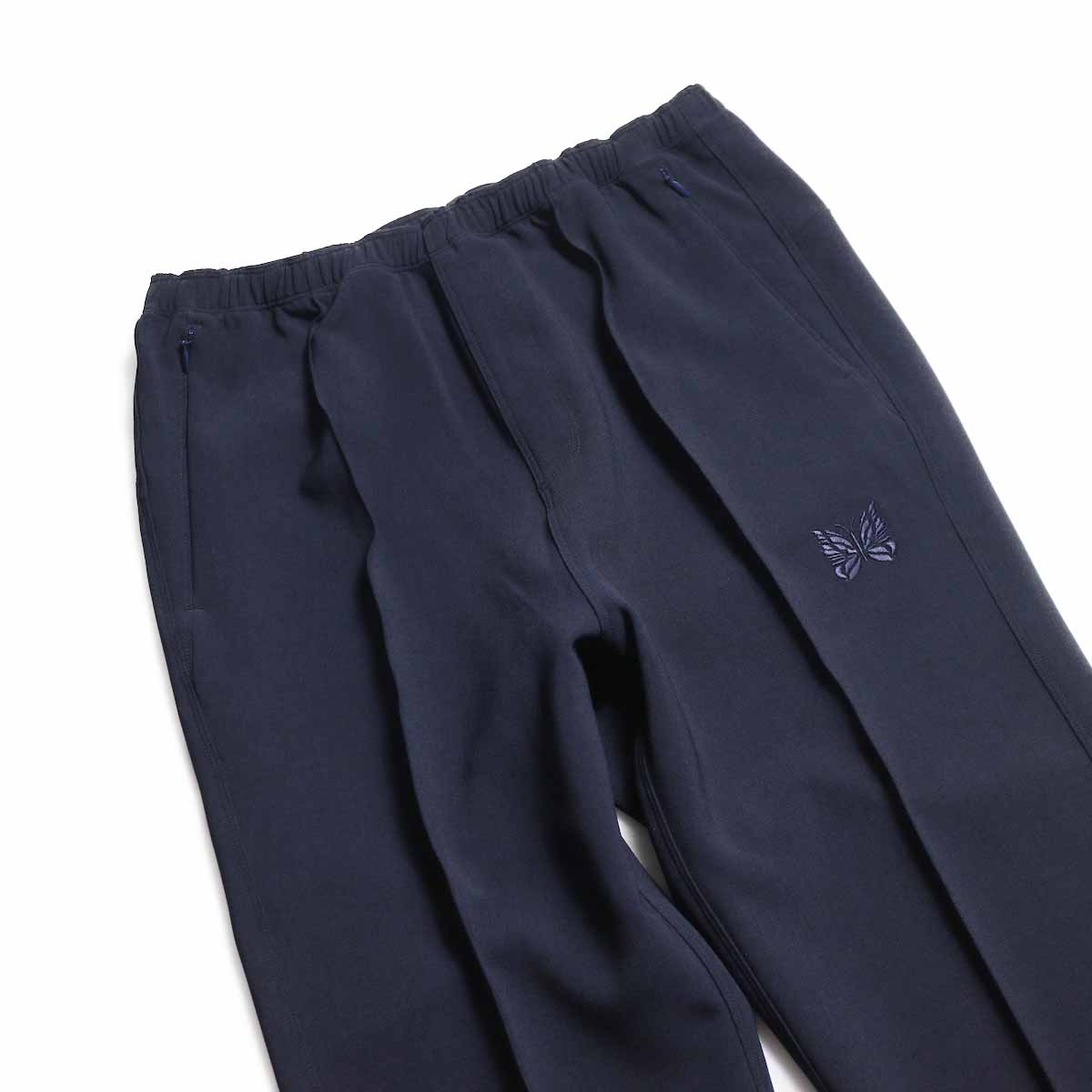 NEEDLES / Warm-Up Pant -Poly Double Cloth (Navy) ウエスト