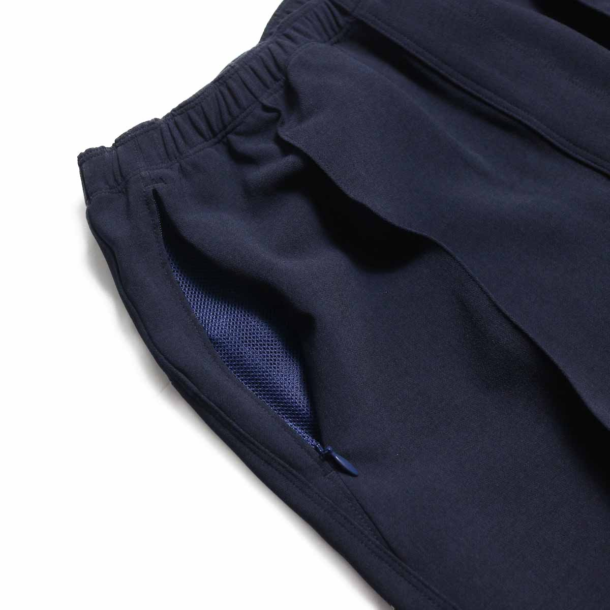 NEEDLES / Warm-Up Pant -Poly Double Cloth (Navy) ポケット