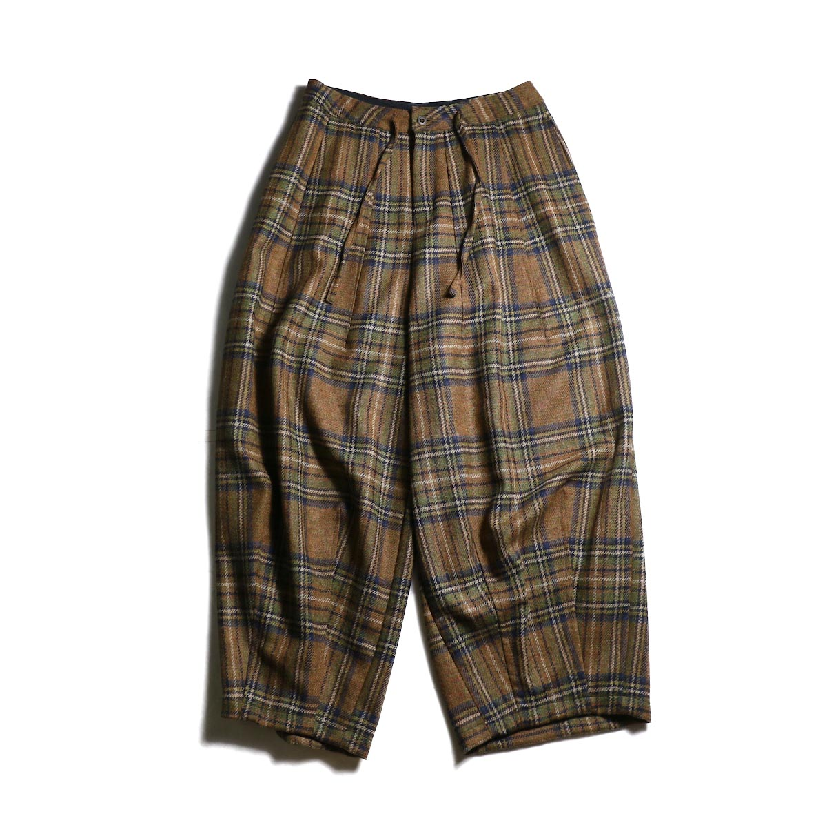 Needles / Darts Military Pant -Wool Plaid Tweed (Brown)