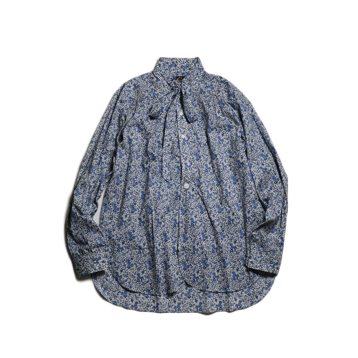 Needles / Ascot Collar EDW Gather Shirt -Liberty Print (Blue Flower)