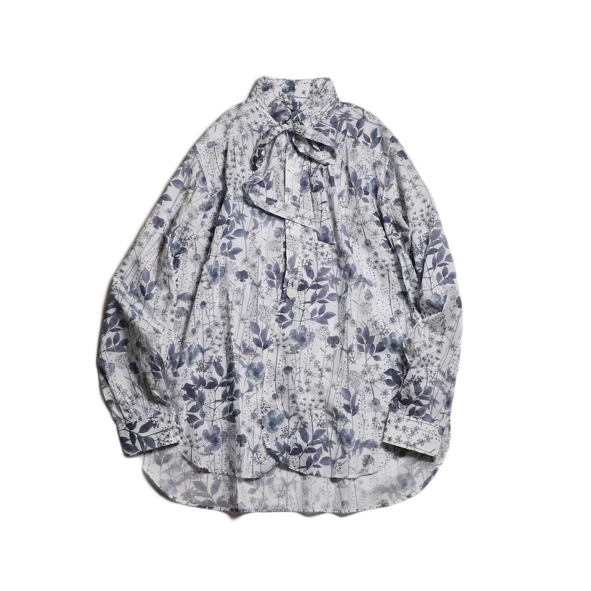 Needles / Ascot Collar EDW Gather Shirt -Liberty Print (Gray Flower)
