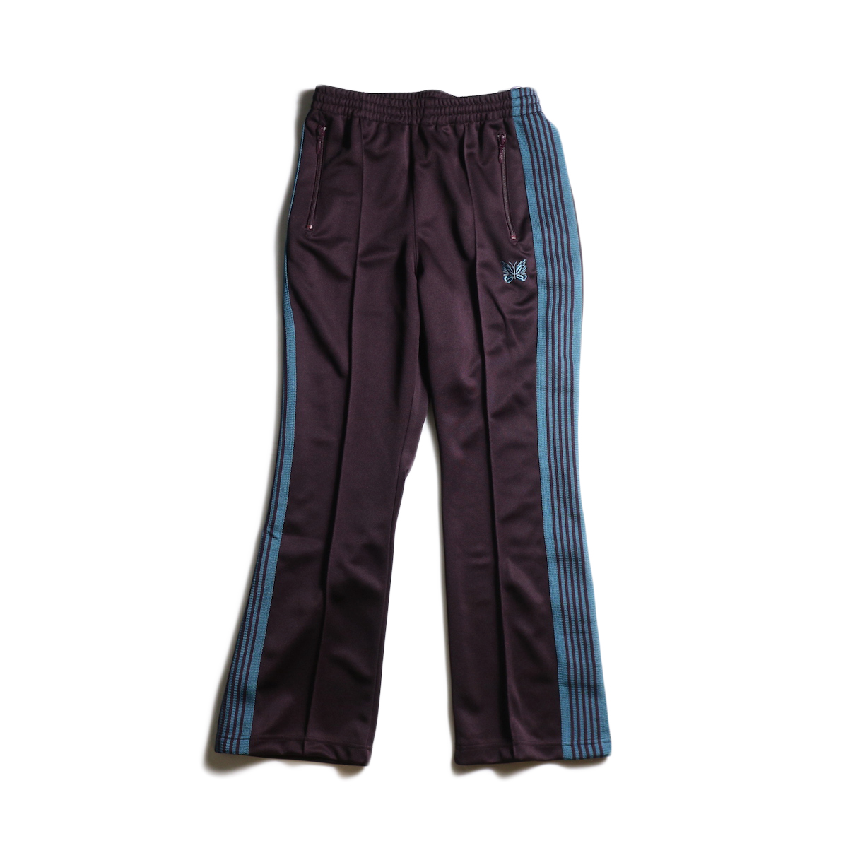 Needles / Boot-Cut Track Pant -Poly Smooth (Bordeaux)