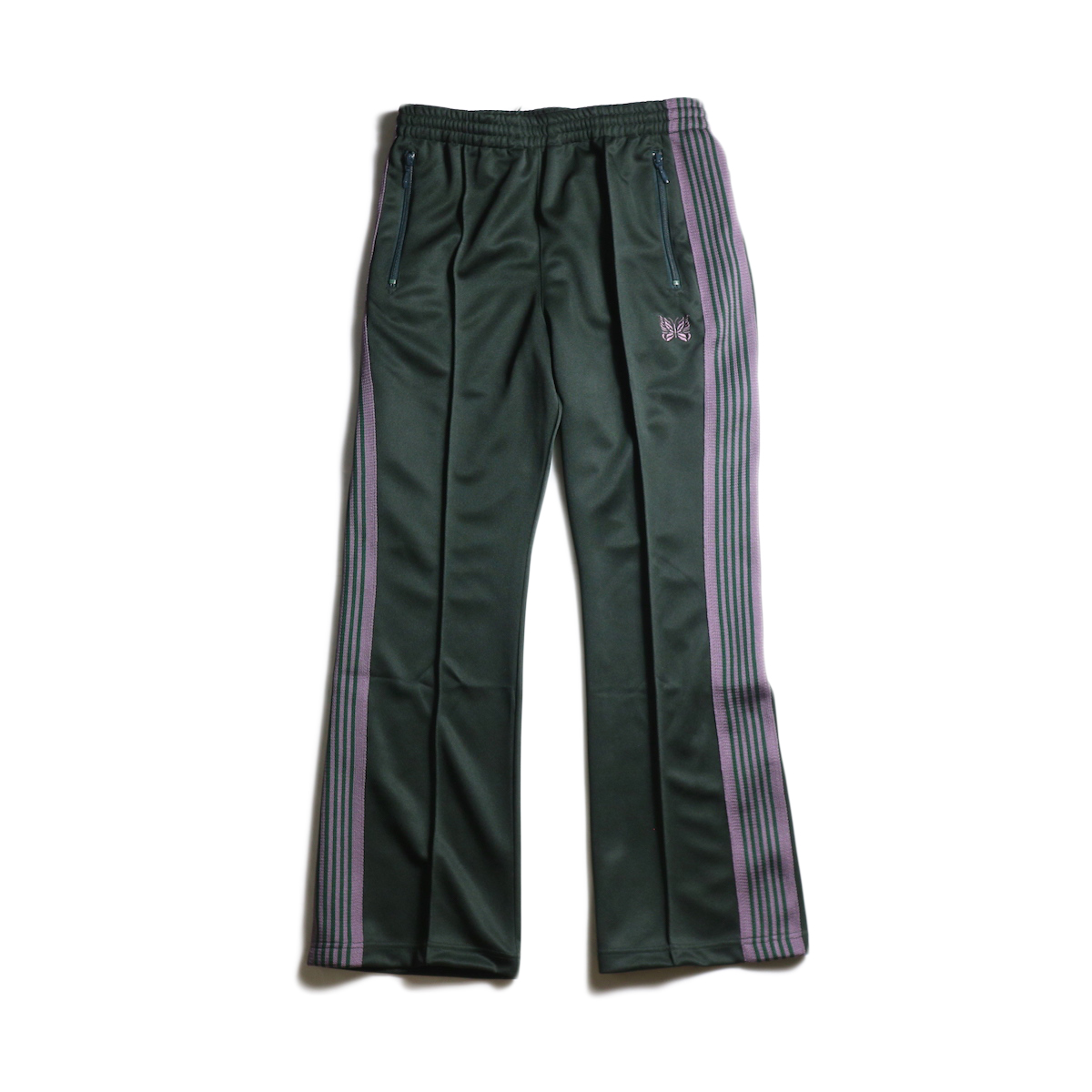 Needles / Boot-Cut Track Pant -Poly Smooth (Green)