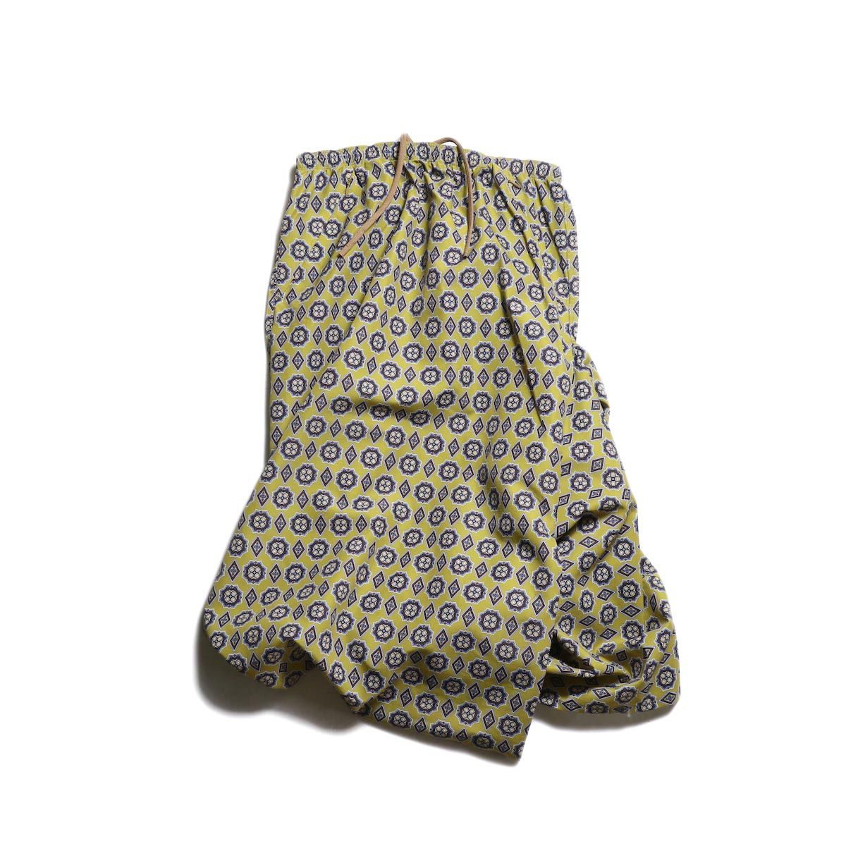 Needles(Ladie's) / Conti Skirt -Nylon Tussore/Print (Khaki)