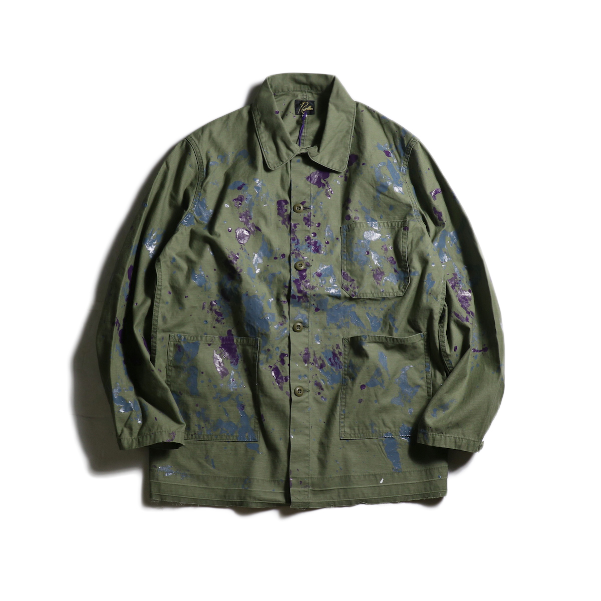 Needles / D.N.Coverall -Back Steen/Paint (Olive)
