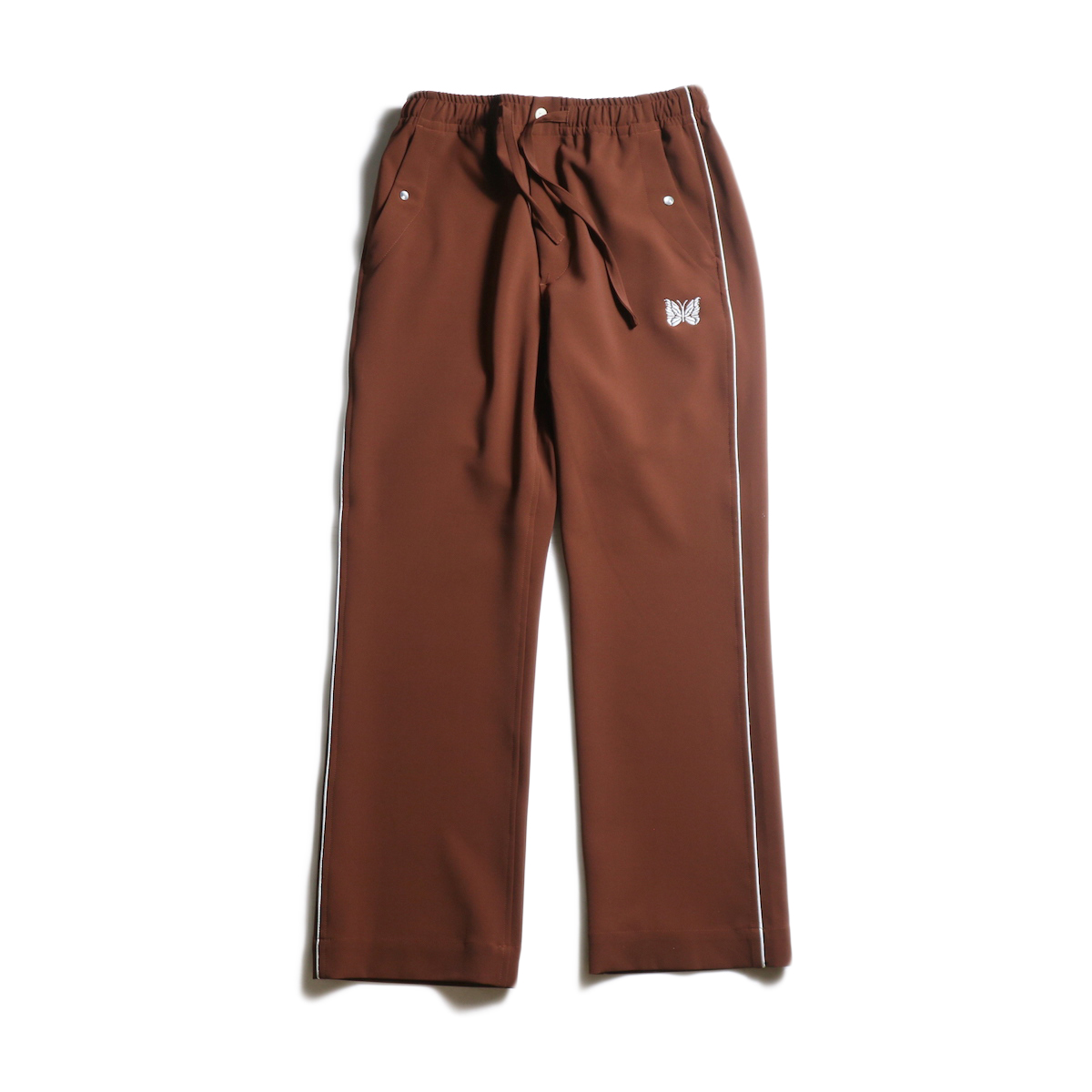 Needles / Piping Cowboy Pant - PE/PU Double Cloth (Brown)