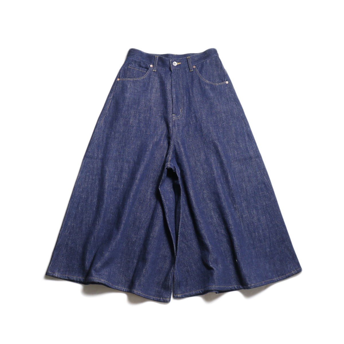 Needles / Divided Jean Skirt -15oz Loose Denim (Indigo)