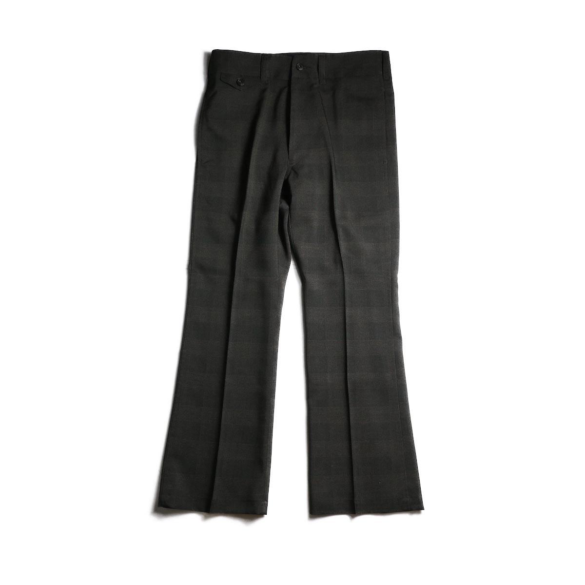Needles / Flap Pocket Boot-Cut Trouser -Tropical Poly Cloth (Brn/Plaid)
