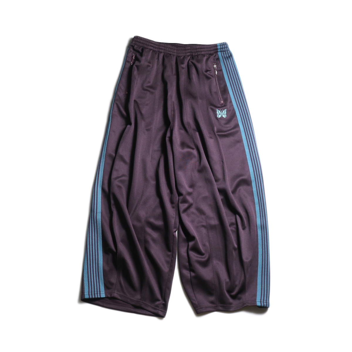 Needles / H.D. TRACK PANT - POLY SMOOTH (Bordeaux)