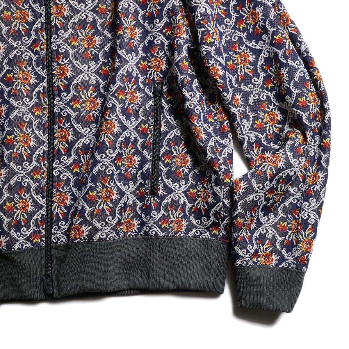 Needles / Track Jacket - Poly Jacquard (Arabesuque)袖、裾