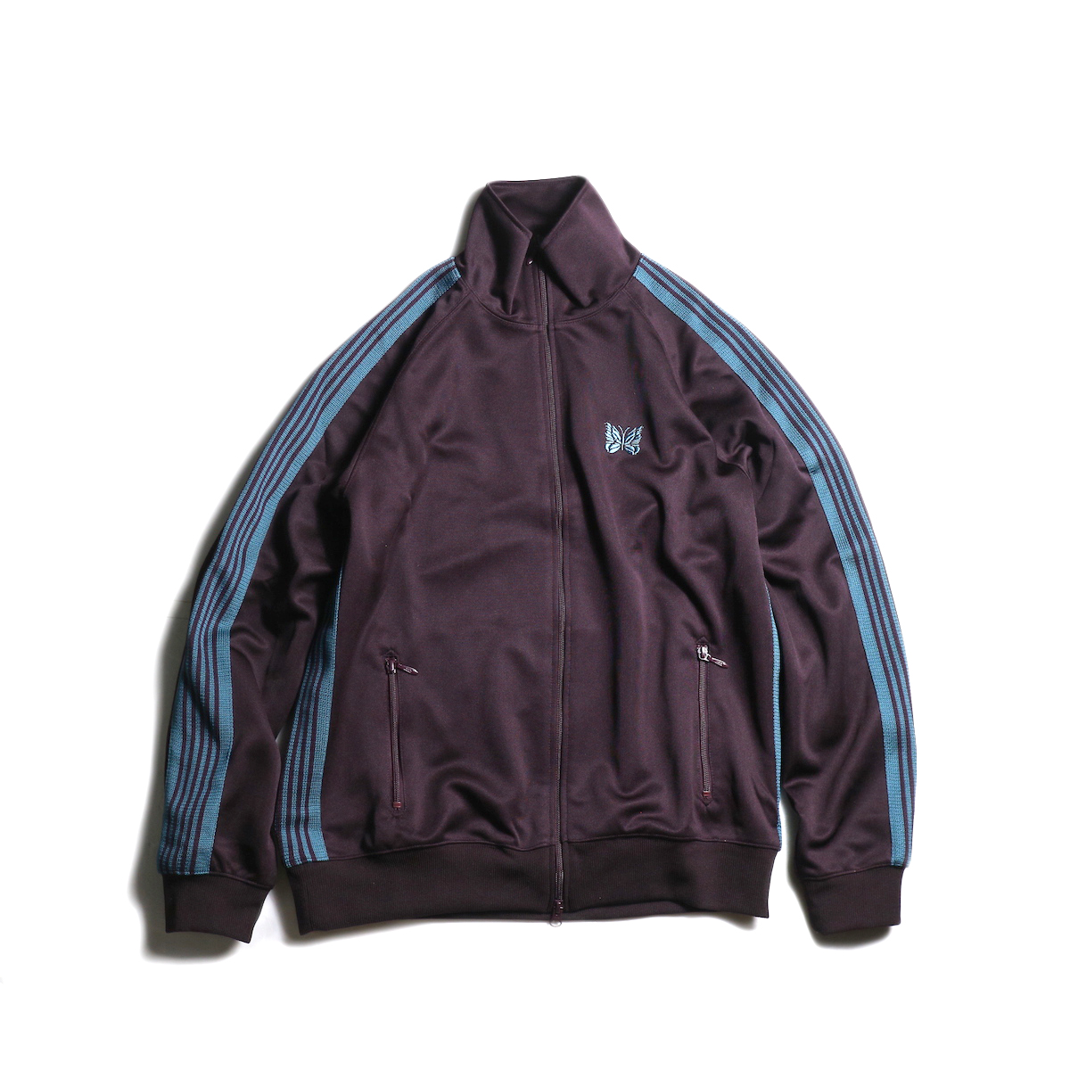 Needles / TRACK JACKET - POLY SMOOTH (Bordeaux)