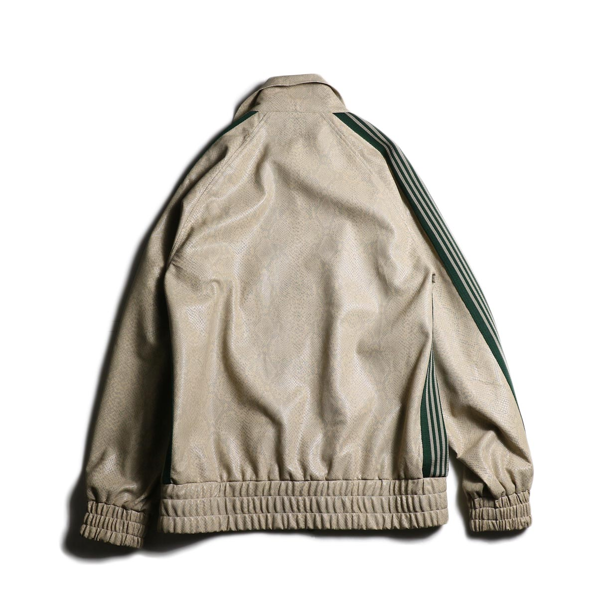 Needles / Track Jacket - Synthetic Leather/Python (Beige)背面