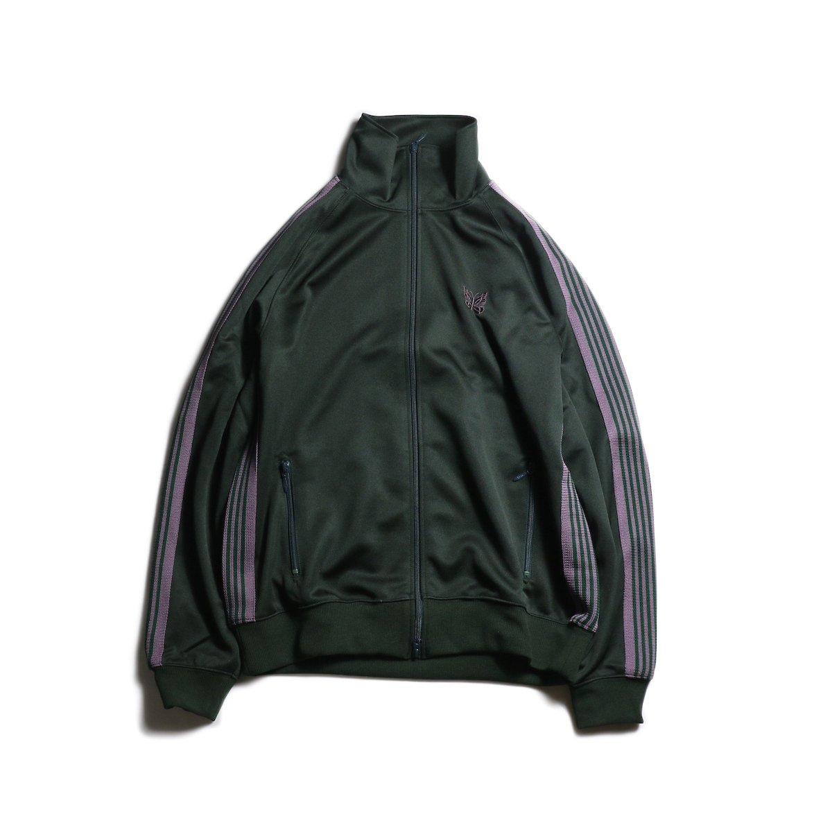 Needles / TRACK JACKET - POLY SMOOTH (Green)