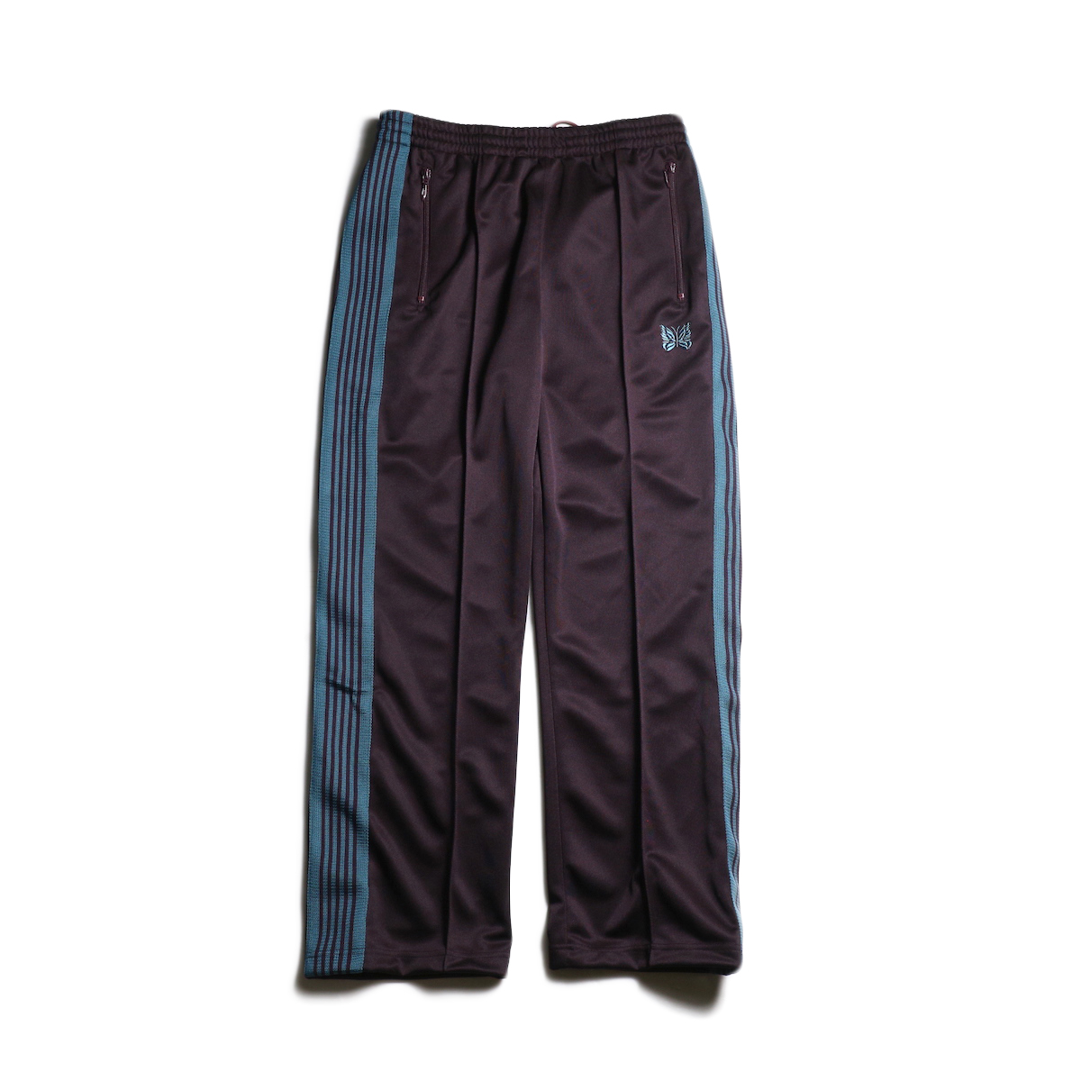 Needles / TRACK PANT - POLY SMOOTH (Bordeaux)