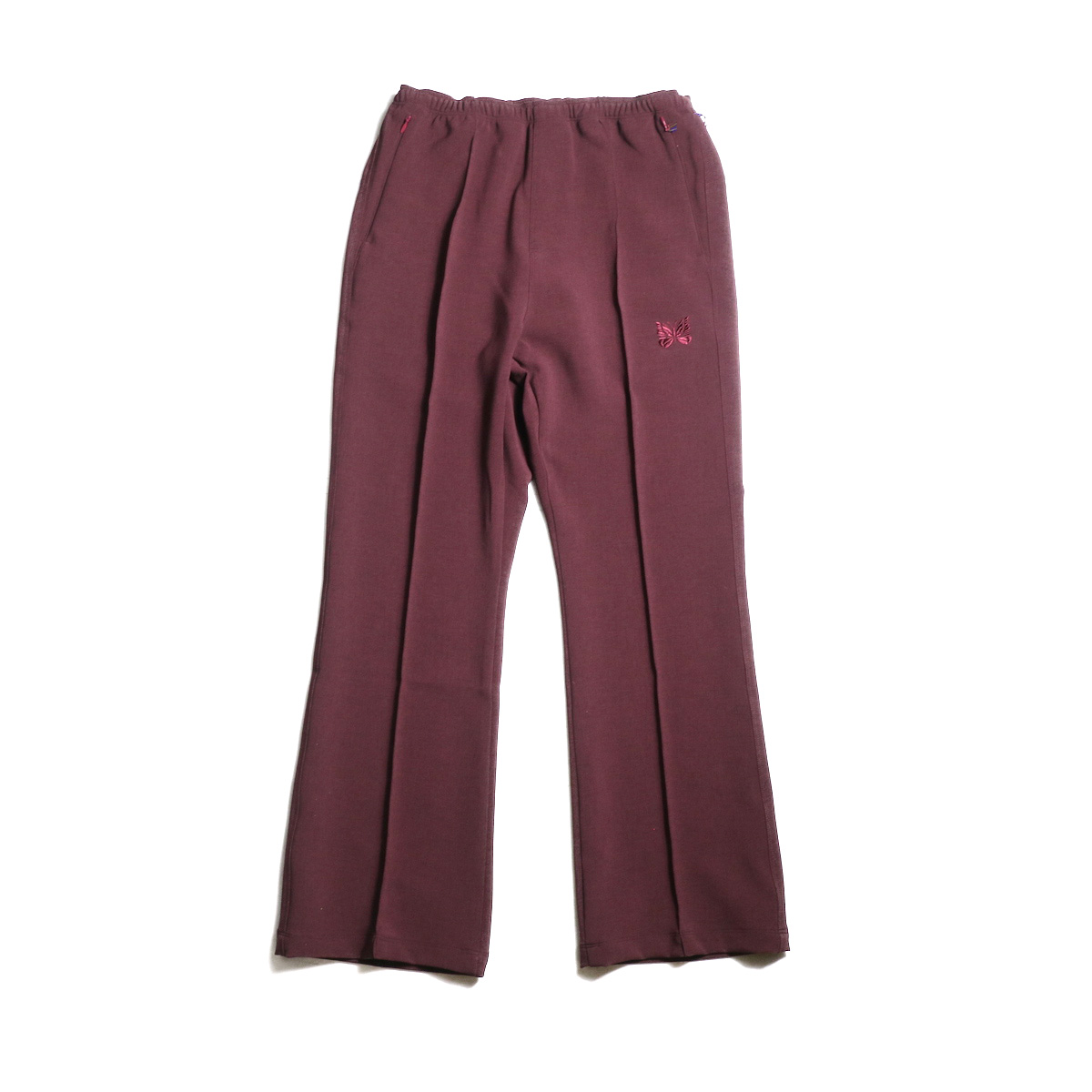 Needles / Warm-Up Boot-Cut Pant -Pe/W Sateen (Bordeaux)