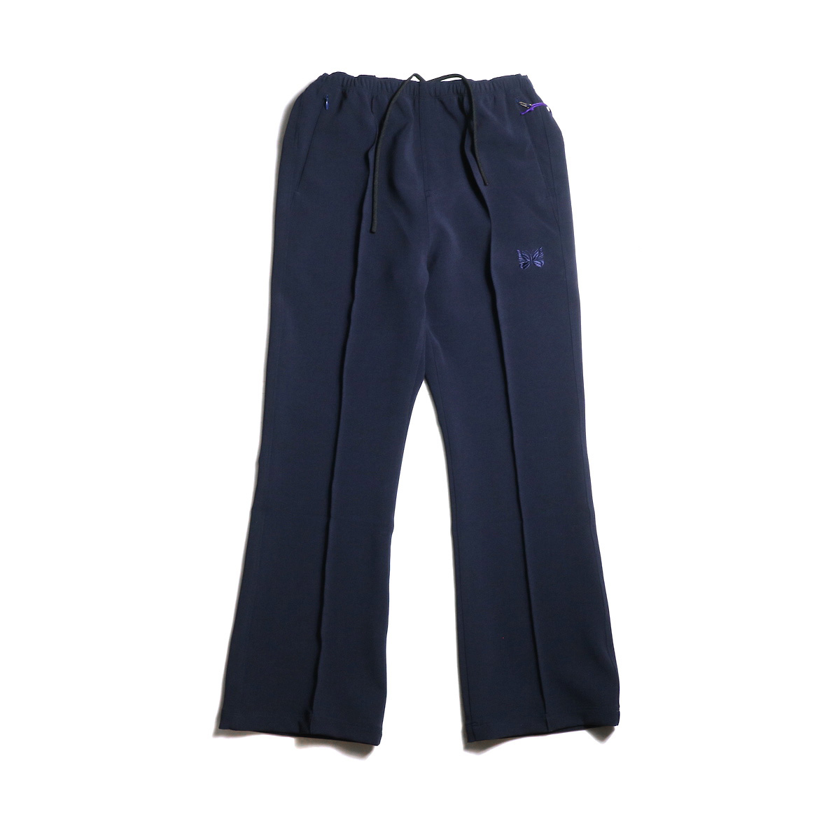 Needles / Warm-Up Boot-Cut Pant -Pe/W Sateen (Navy) 正面