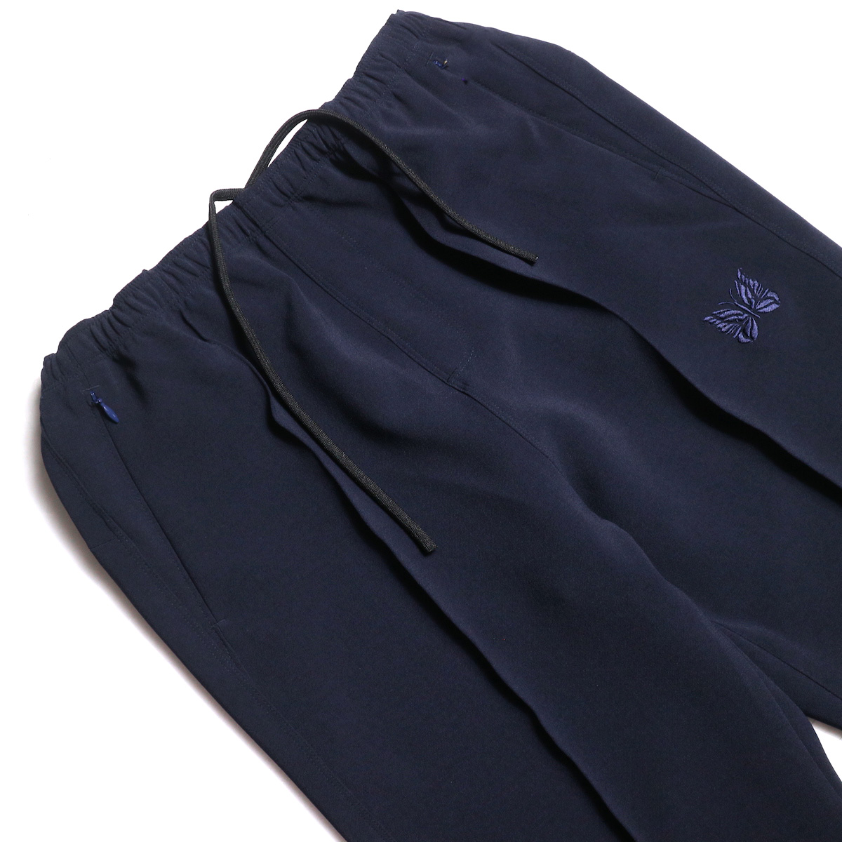 Needles / Warm-Up Boot-Cut Pant -Pe/W Sateen (Navy) ウエスト