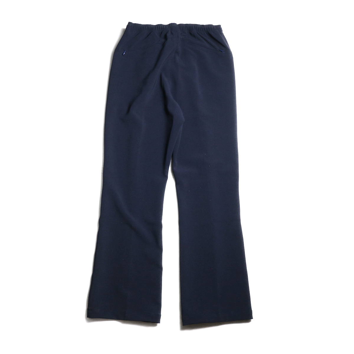 Needles / Warm-Up Boot-Cut Pant -Pe/W Sateen (Navy) 背面