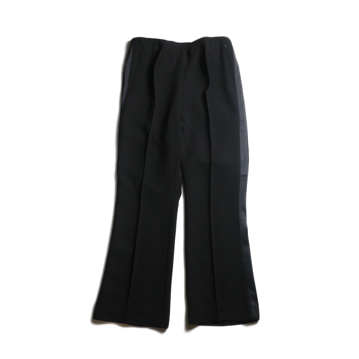 Needles / SIDE LINE WARM-UP BOOT-CUT PANT - POLY DOUBLE CLOTH (Black)
