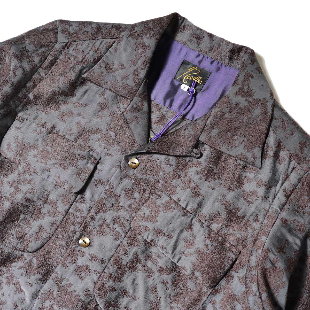 Needles / Classic Shirt Dress (Brown) 襟・フロントポケット