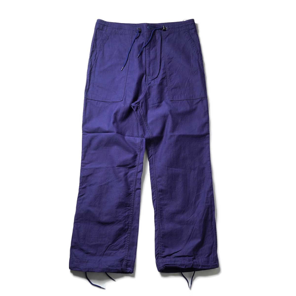 Needles / STRING FATIGUE PANT - BACK SATEEN (Navy)正面