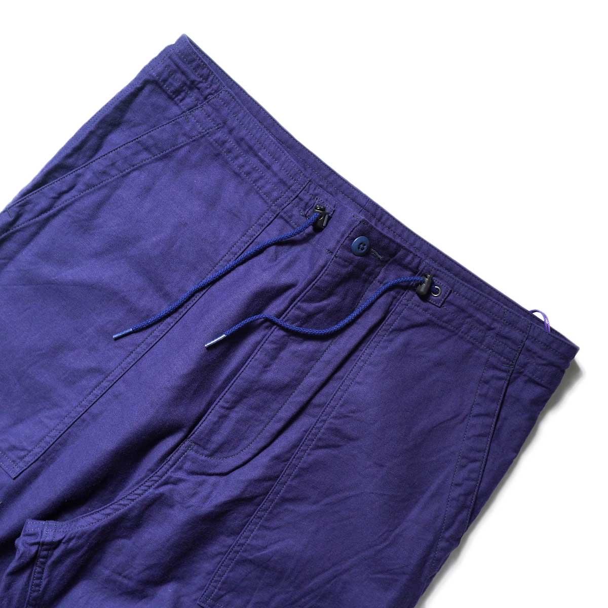 Needles / STRING FATIGUE PANT - BACK SATEEN (Navy)ウエスト
