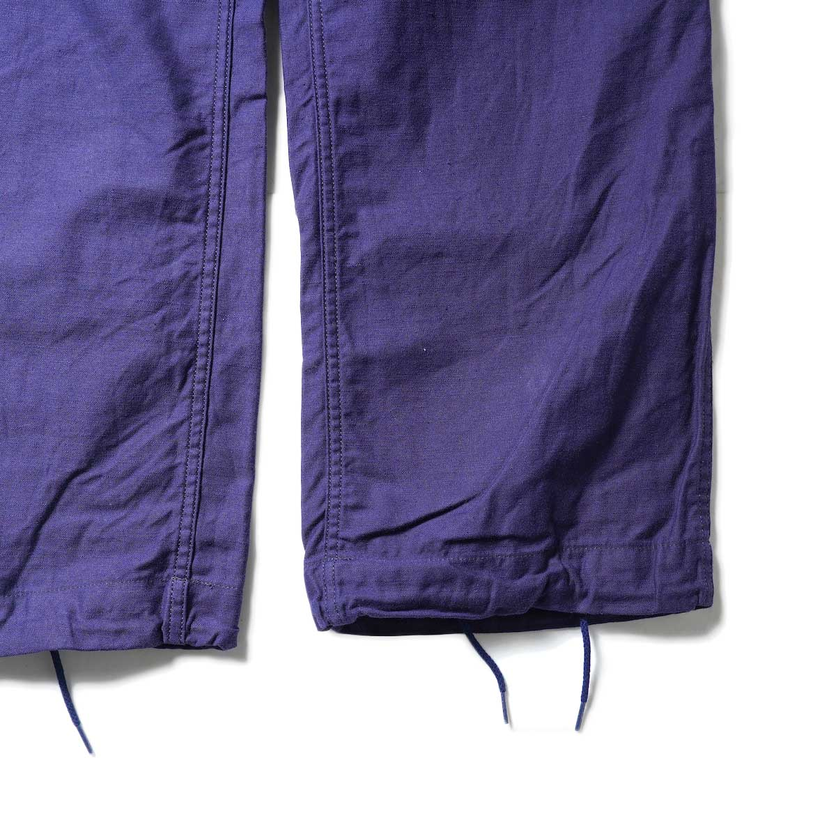 Needles / STRING FATIGUE PANT - BACK SATEEN (Navy)裾