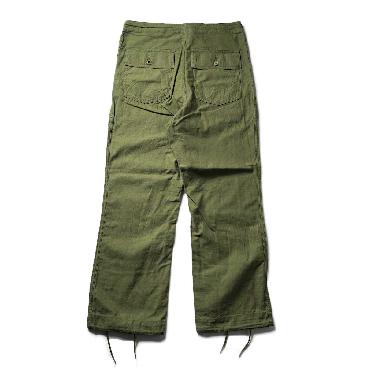 Needles / STRING FATIGUE PANT - BACK SATEEN (Olive)背面
