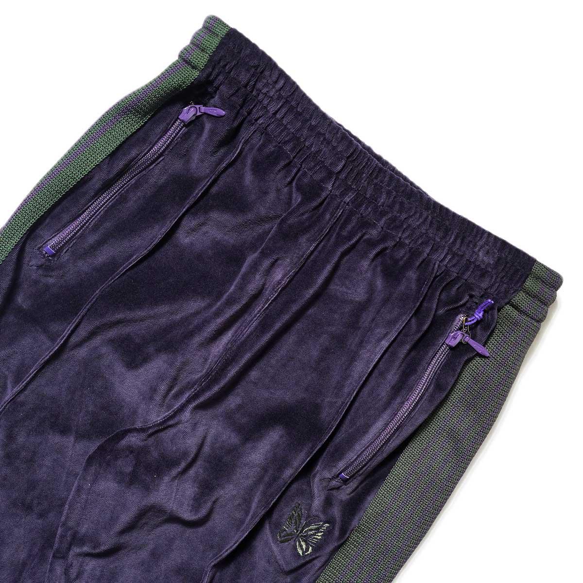Needles / NARROW TRACK PANT - C/PE VELOUR (Eggplant)ウエスト