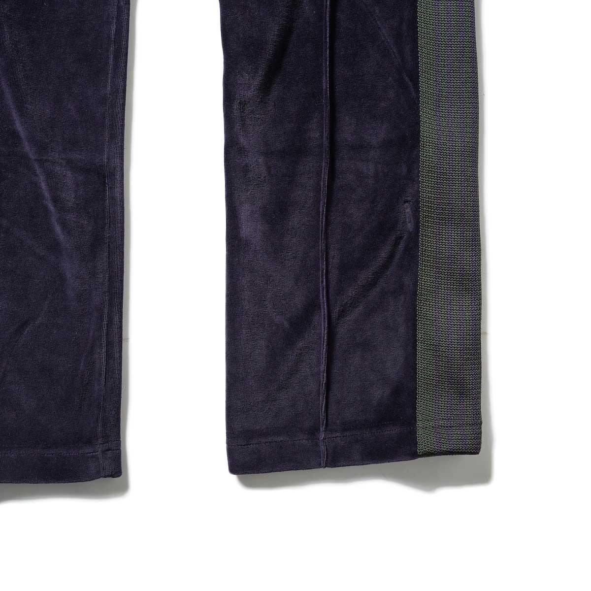 Needles / NARROW TRACK PANT - C/PE VELOUR (Eggplant)裾