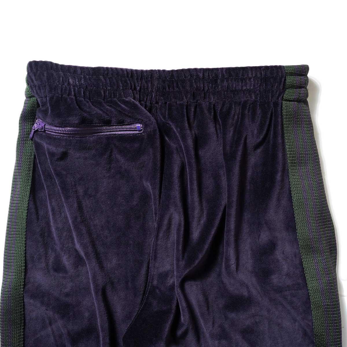Needles / NARROW TRACK PANT - C/PE VELOUR (Eggplant)ヒップポケット